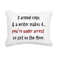 3armedcops_black Rectangular Canvas Pillow