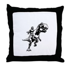 Velicirapture-tRex-DKT Throw Pillow