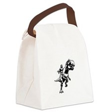 Velicirapture-tRex-DKT Canvas Lunch Bag