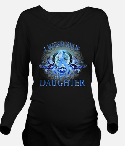 I Wear Blue for my D Long Sleeve Maternity T-Shirt
