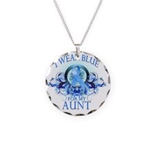 I Wear Blue for my Aunt (flo Necklace Circle Charm
