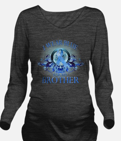 I Wear Blue for my B Long Sleeve Maternity T-Shirt