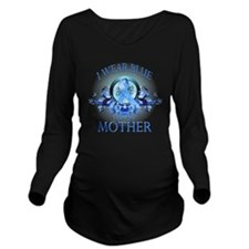 I Wear Blue for my M Long Sleeve Maternity T-Shirt