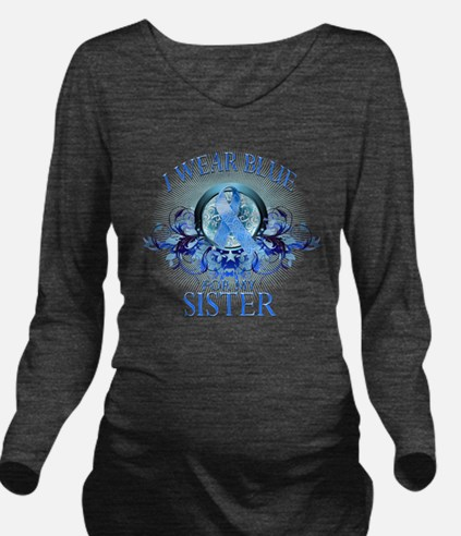I Wear Blue for my S Long Sleeve Maternity T-Shirt