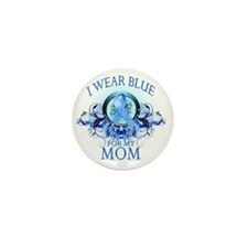 I Wear Blue for my Mom (floral) Mini Button
