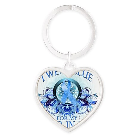 I Wear Blue for my Sister In Law (f Heart Keychain