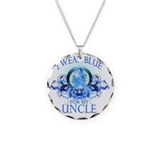 I Wear Blue for my Uncle (fl Necklace Circle Charm