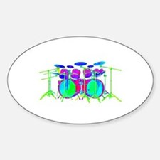 Colorful Drum Kit Decal