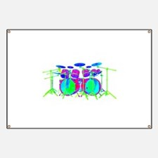 Colorful Drum Kit Banner