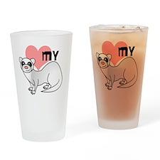Silver Ferret Drinking Glass