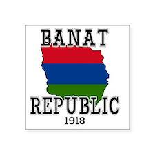 """Banat Republic Square Sticker 3"""" x 3"""""""