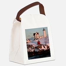 Nubble Light Tile Canvas Lunch Bag