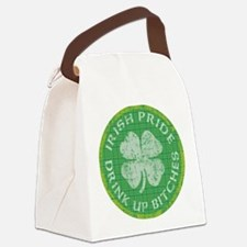irish pride drink up bitches copy Canvas Lunch Bag