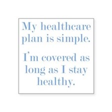 "healthcare3 Square Sticker 3"" x 3"""