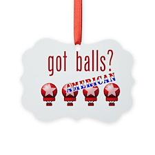AmericanBalls_dark Ornament