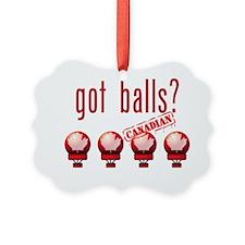 CanadianBalls_dark Ornament