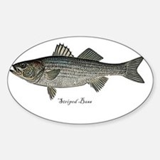 Bass- Striped Sticker (Oval)