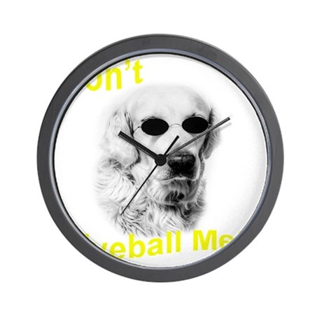 dont eyeball yellow Wall Clock