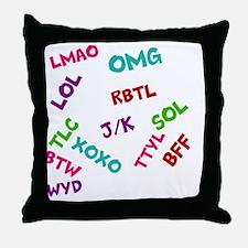 acronyms Throw Pillow