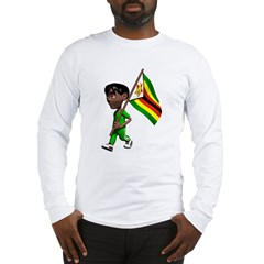 3D Zimbabwe Long Sleeve T-Shirt