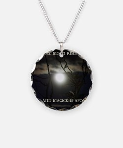 Full Moon Card Necklace