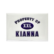 Property of kianna Rectangle Magnet