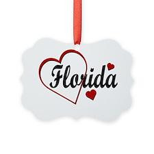 Love Florida Hearts Ornament