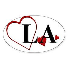 LA Louisiana Heart Decal