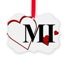 MI Michigan Heart Ornament