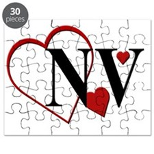 NV  Nevada Heart Puzzle