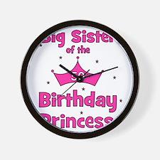 ofthebirthdayprincess_bigsister_50th Wall Clock