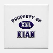 Property of kian Tile Coaster