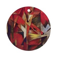 Franz Marc - Foxes Round Ornament