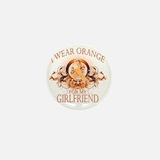 I Wear Orange for my Girlfriend (flora Mini Button
