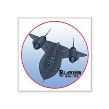 "Blackbird-C10trans Square Sticker 3"" x 3"""