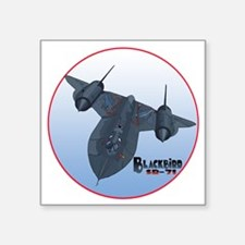 "Blackbird-C10trans Square Sticker 3"" x 3"""