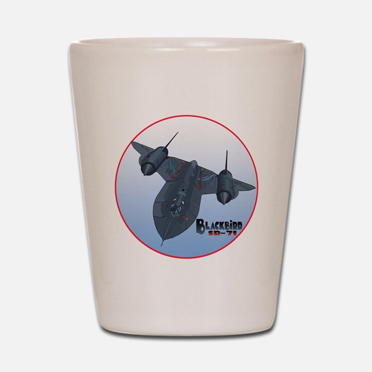 Blackbird-C10trans Shot Glass