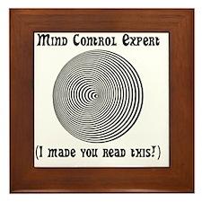 Mind Control Black Framed Tile