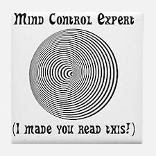 Mind Control Black Tile Coaster