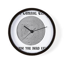 Mind Control Black Wall Clock
