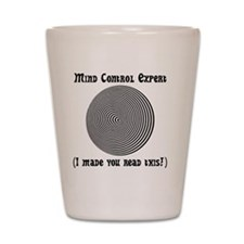 Mind Control Black Shot Glass