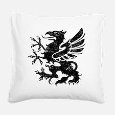 BlackGriffon Square Canvas Pillow