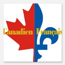 """Canadien Francais pocket Square Car Magnet 3"""" x 3"""""""