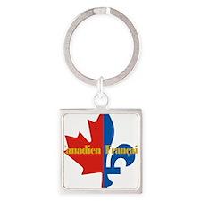Canadien Francais pocket logo 2(g) Square Keychain