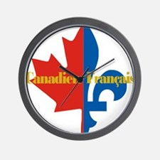 Canadien Francais pocket logo 2(g) Wall Clock
