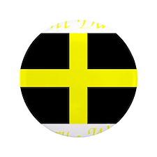"""Flag_of_Saint_David-Dark 3.5"""" Button"""