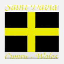 Flag_of_Saint_David-Dark Tile Coaster