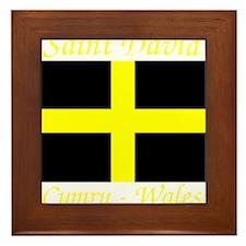 Flag_of_Saint_David-Dark Framed Tile