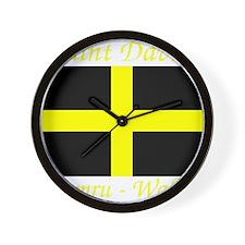 Flag_of_Saint_David-Dark Wall Clock