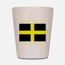 Flag_of_Saint_David-Dark Shot Glass